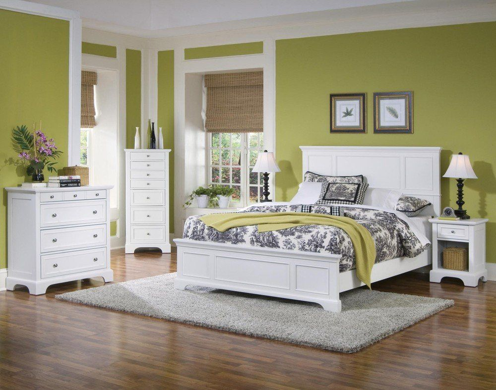 Bedroom color ideas with white furniture design ideas