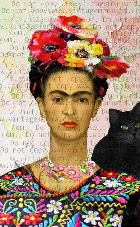 altered art frida kahlo fabric art quilt fkfb0112 frieda kahlo pinterest arte frida kahlo. Black Bedroom Furniture Sets. Home Design Ideas