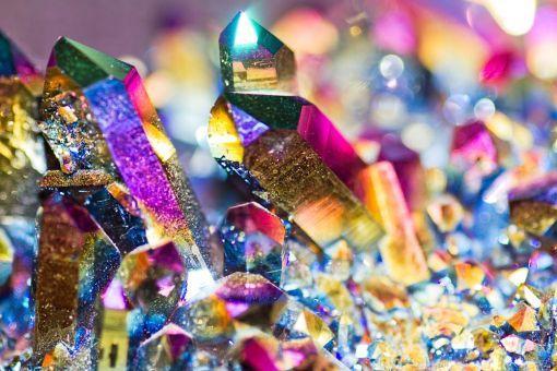 Kristalle Prismen Edelsteine Regenbogenkristalle Aller Arten