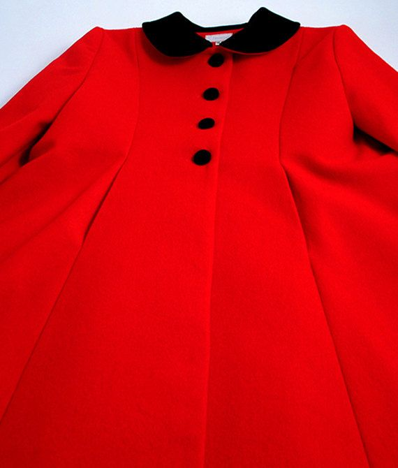 Red pure wool melton riding coat for girls. So very English! A ...