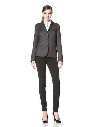 -22,800% OFF Calvin Klein Women's Lady Three Button Stretch Fitted Jacket