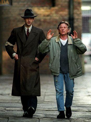"Roman Polanski filming ""The Pianist"" with Adrien Brody"