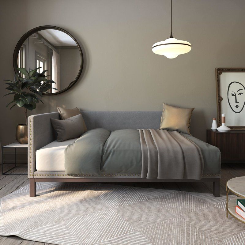 Best Carwile Mid Century Daybed In 2020 Modern Daybed Daybed 640 x 480