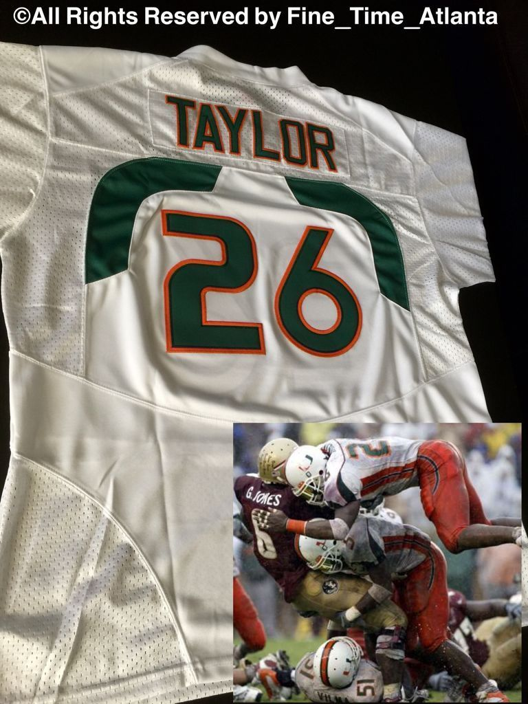 on sale 1b806 45fbb NEW HARD 2 FIND Sean Taylor Miami Hurricanes Authentic Road ...