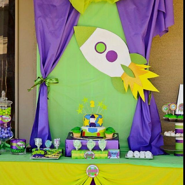 Buzz Lightyear Party Table Fiestas De Cumpleaños De Arte