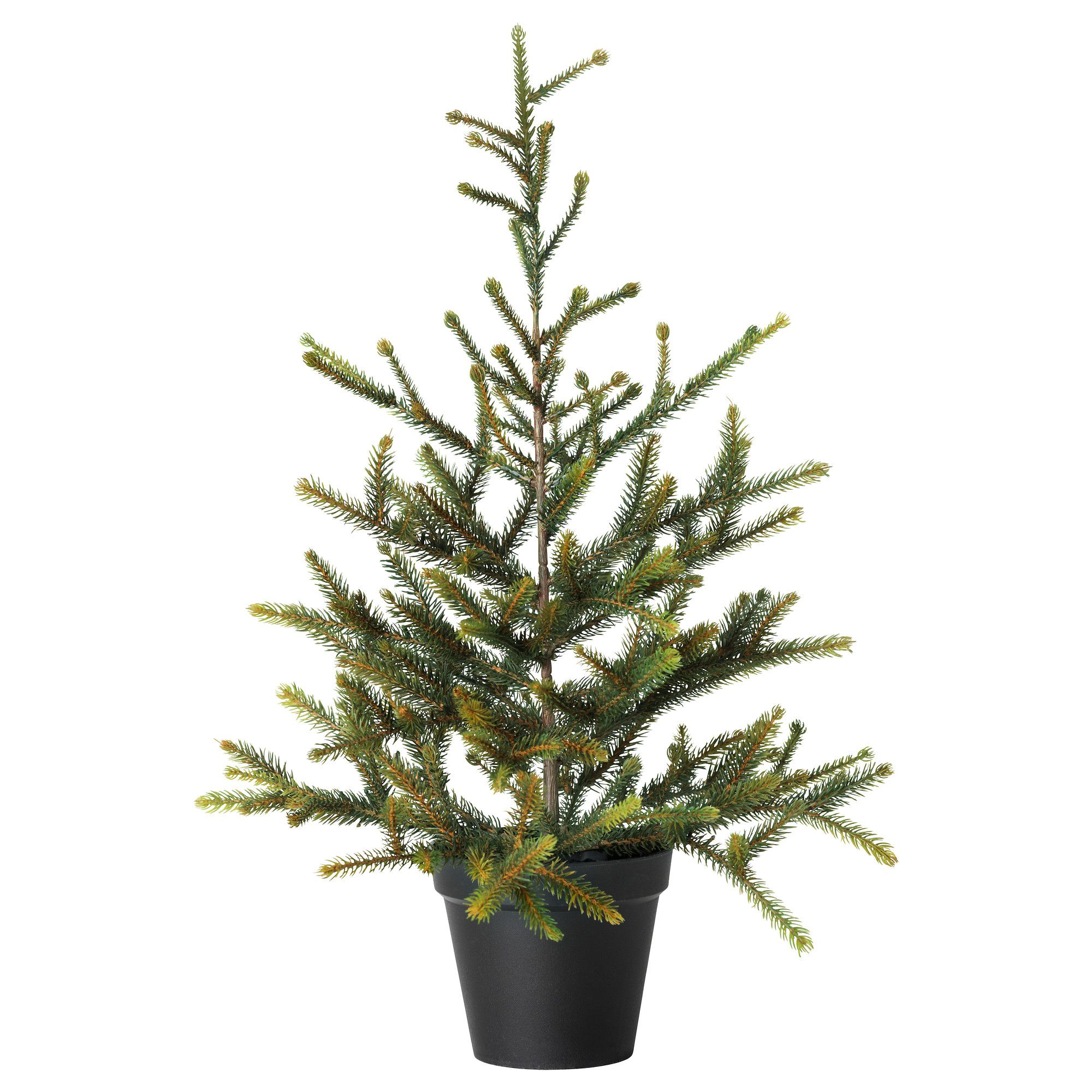 Ikea: FEJKA Artificial potted Christmas tree, $15 (22 inches tall ...