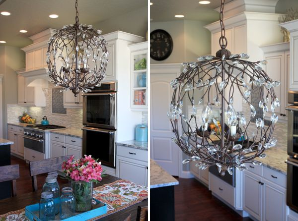 So Many Amazing Things About This Kitchen, But This PB Camilla Globe Light  Is Gorgeous!