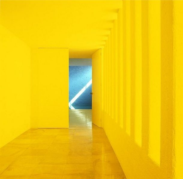 Louis Barragan Yellow Gggreenhouse Colour Architecture Luis Barragan Yellow Painting