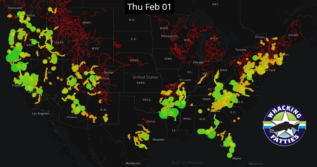 FlyFishing Forecast Map 212018 trout anglers catchandrelease
