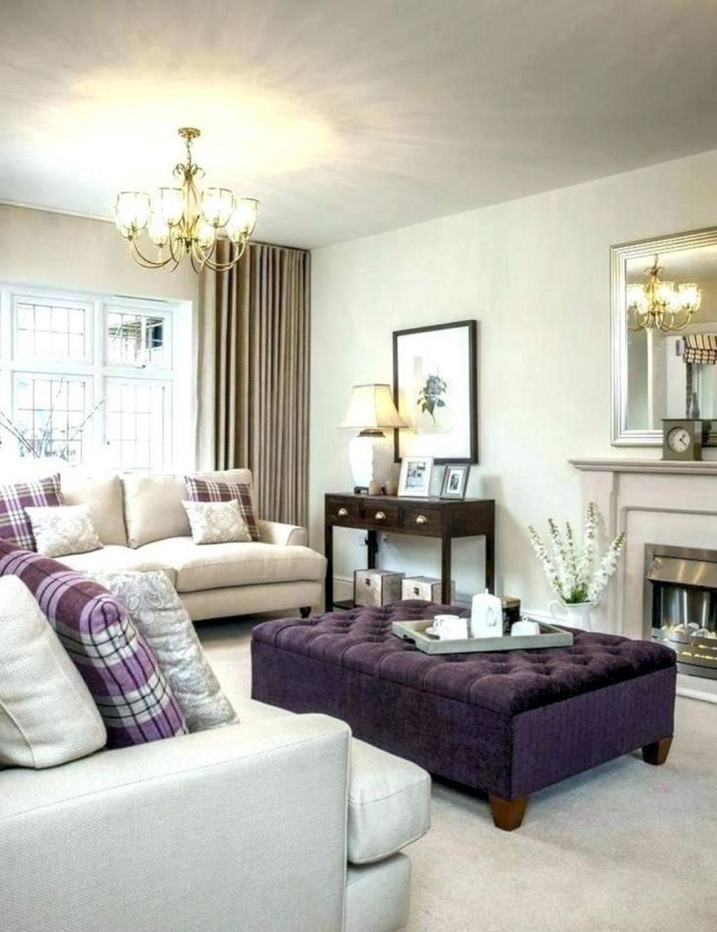 40 Awesome Living Room Green And Purple Interior Color Idea
