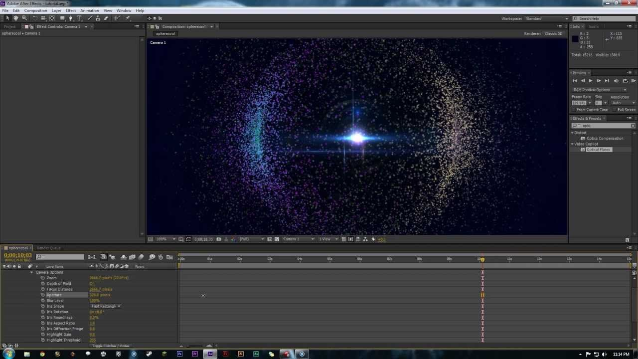 After Effect Tutorial Trapcode Particular Particle Sphere