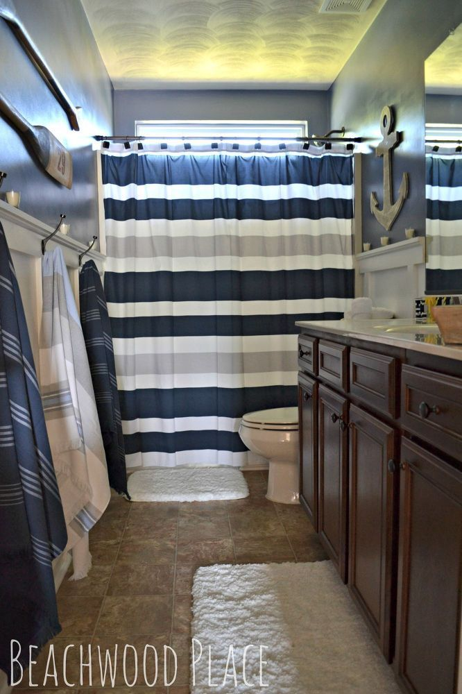 Great Bathroom For A Tween Boy (minus The Fluffy Rugs!)