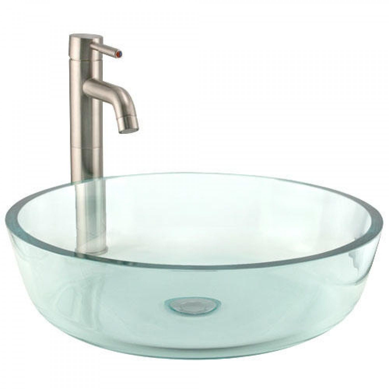 Clear Glass Vessel Sink With Flat Rim Home Sweet Home Pinterest