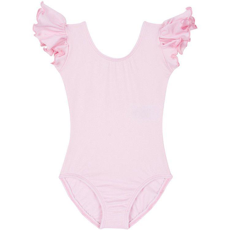 adf723c7b1 LIGHT PINK Leotard w  Flutter Ruffle Short Sleeve for Toddler   Girls – The  Leotard Boutique