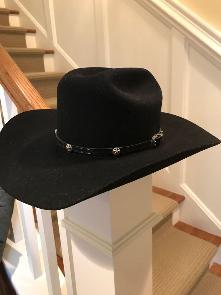 Bailey Hazer 5X (Beaver) Mens Cowboy Hat Black Wool Size 7.5 Made In USA   fashion  clothing  shoes  accessories  mensaccessories  hats (ebay link) b8e4c508718c