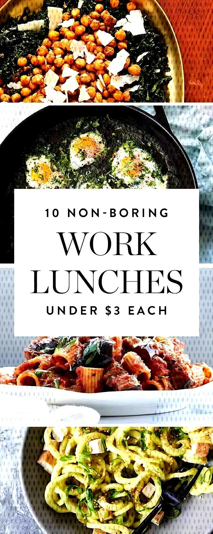 Non-Boring Work Lunches You Can Make for Less Than $3 a Serving    Here are 10 easy work lunche