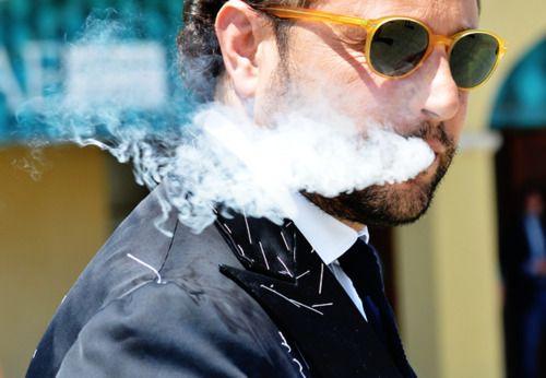 smoke and glasses