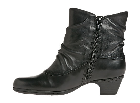 Wrap your feet in ruching and vintage style with Cobb Hill's Alexandra low-heel boots. Made of sumptuous leather with a burnished finish and antiqued buckle detail, they're the go-to boots that go with anything, from jeans to a skirt. And don't fogey about the fit and comfort of New Balance!
