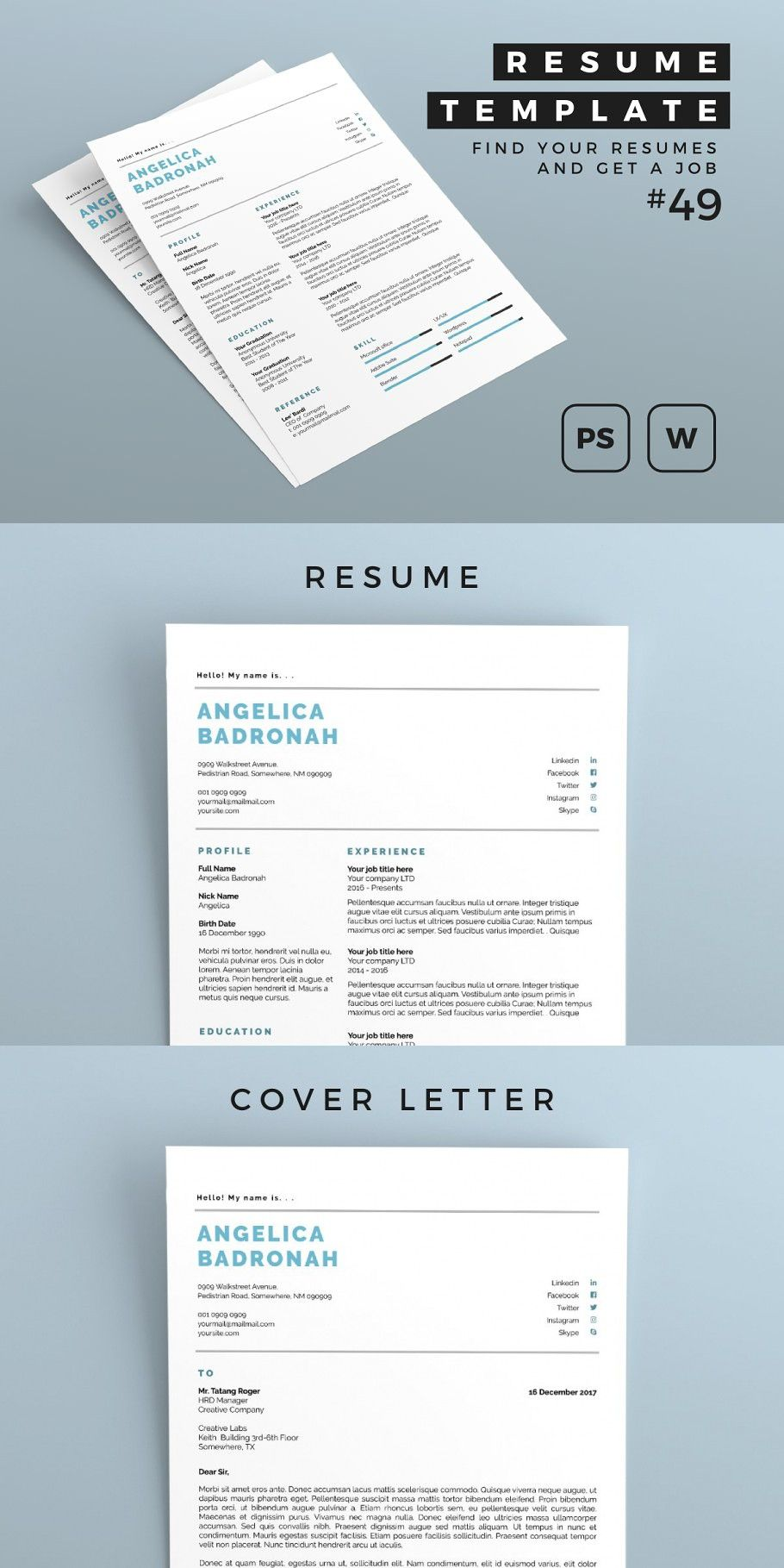 Resume 49 in 2020 How to make resume, Simple resume