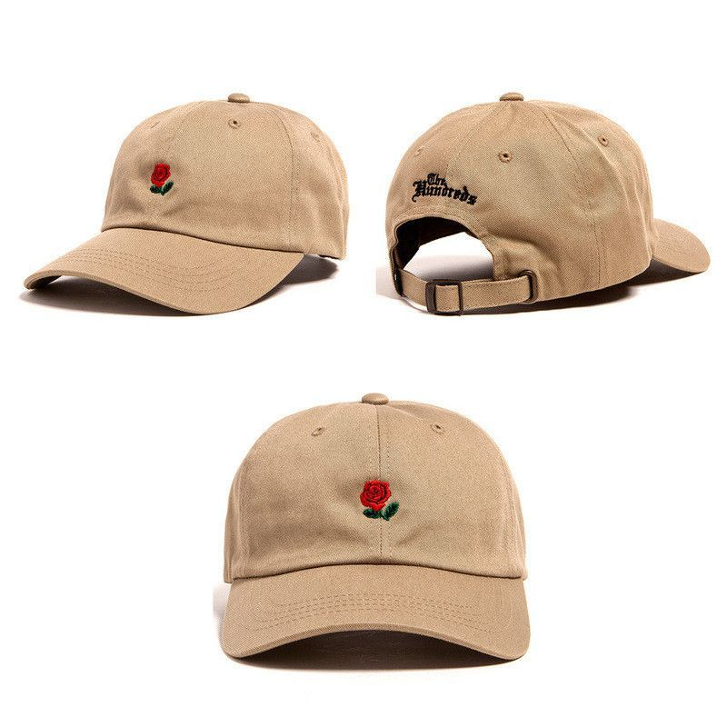 New Rare Brands The Hundreds Rose Strap Back Cap Man Woman Adjustable Golf Hats For Men Strapback Hats Womens Baseball Cap