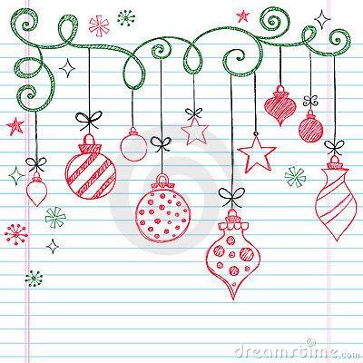 hand gezeichnet fl chtige gekritzel weihnachtsverzierung. Black Bedroom Furniture Sets. Home Design Ideas