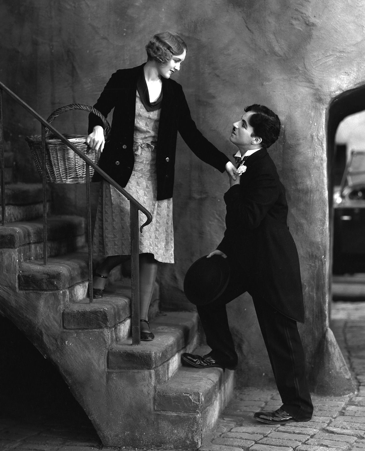 Charlie with Virginia Cherill  in City Lights c.1931