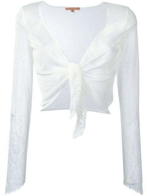 ERMANNO SCERVINO Cropped Cardigan. #ermannoscervino #cloth #cardigan