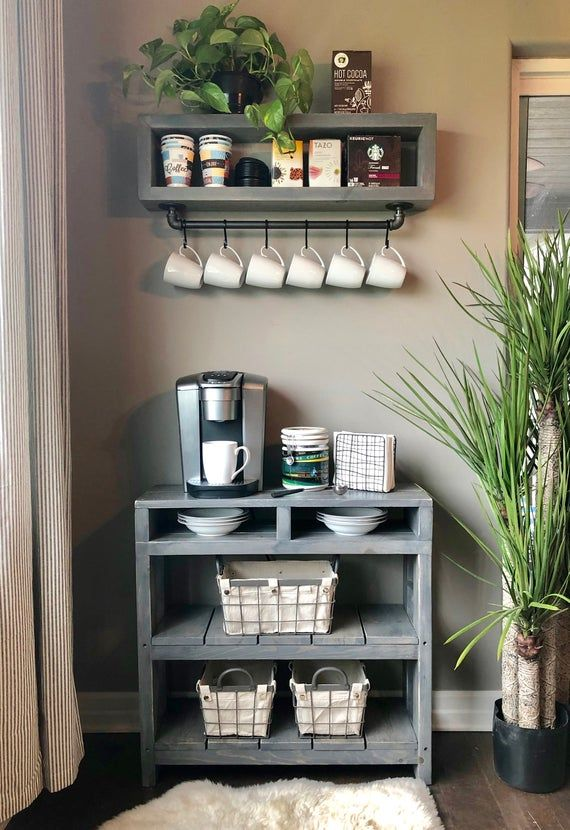 Gabi Coffee Bar Shelf//Coffee Shelf//Industrial Coffee Shelf//Coffee Station Shelf//Coffee Cup Shelf//Pipe Coffee Shelf
