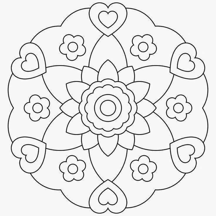 free+printable+mandala+coloring+pages+flower+heart.jpg (736×736 ...
