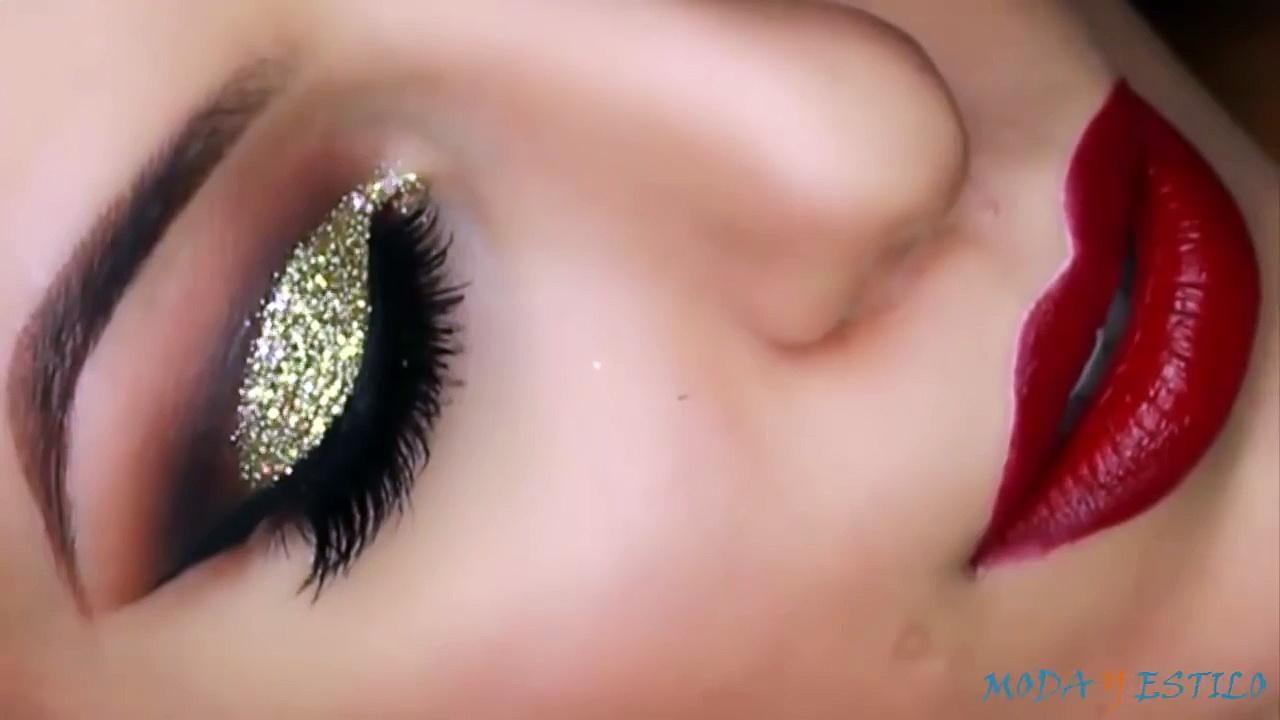 Gold Glitter Cut Crease Smokey Eye - New Years Eve Makeup Tutorial - Video  Dailymotion