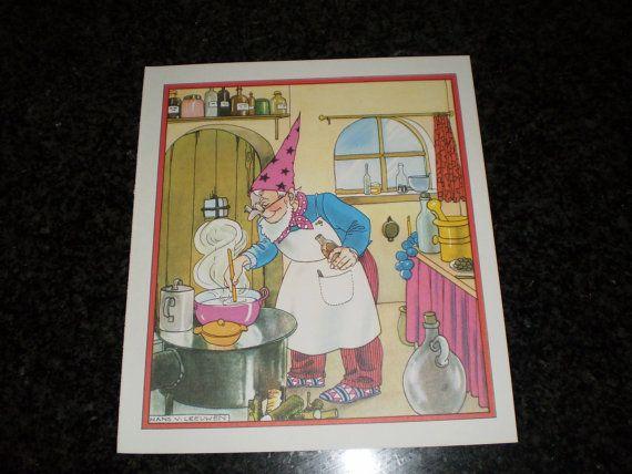 Vintage children's book illustration   cooking door pureplusproducts, $10,00