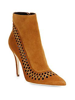 Brian Atwood - Cutout Suede Boots