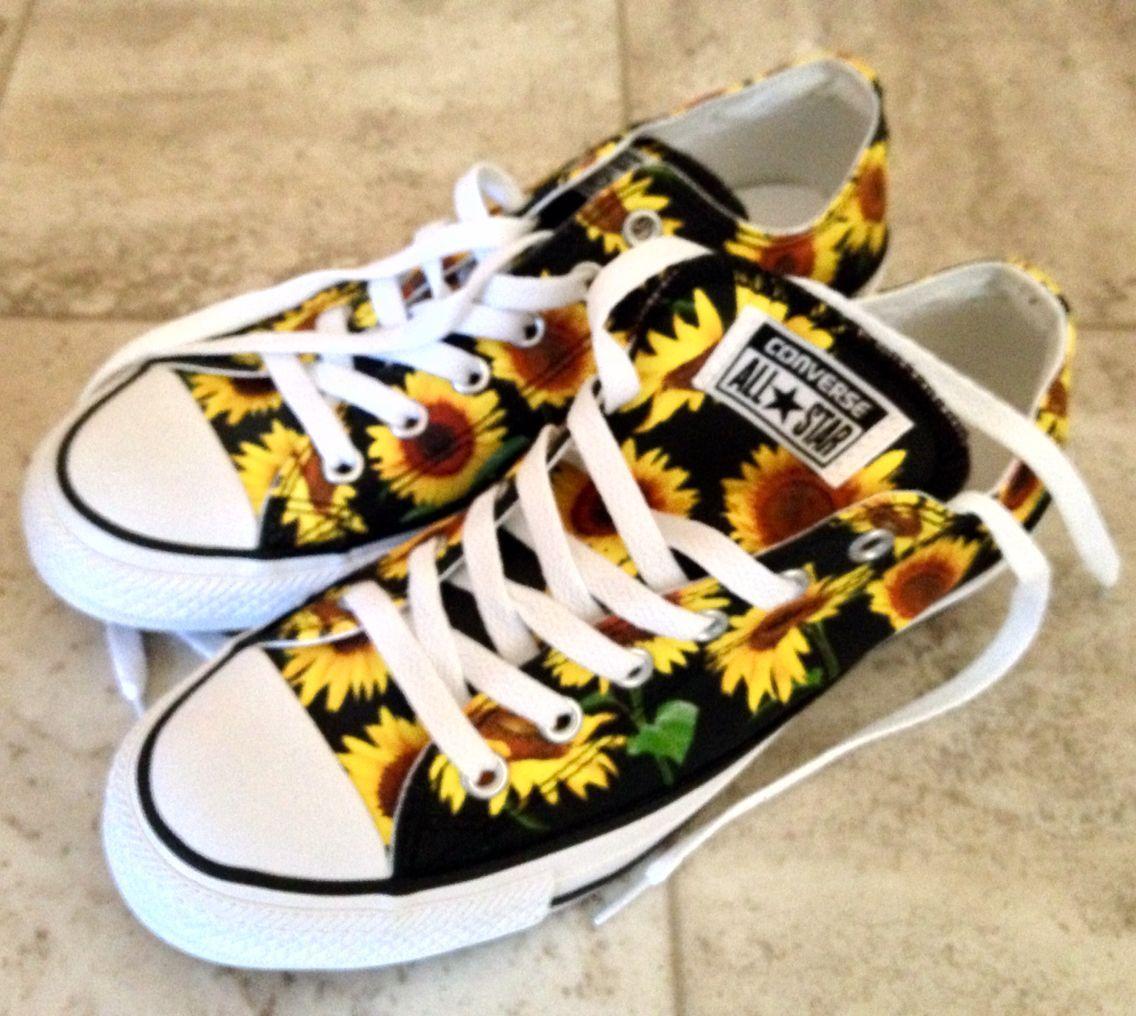 777ad22c7 Sunflower Converse chucks Vans Preto, Tênis Lindos, Sapatilhas, Girassol,  Sapatos Da Moda