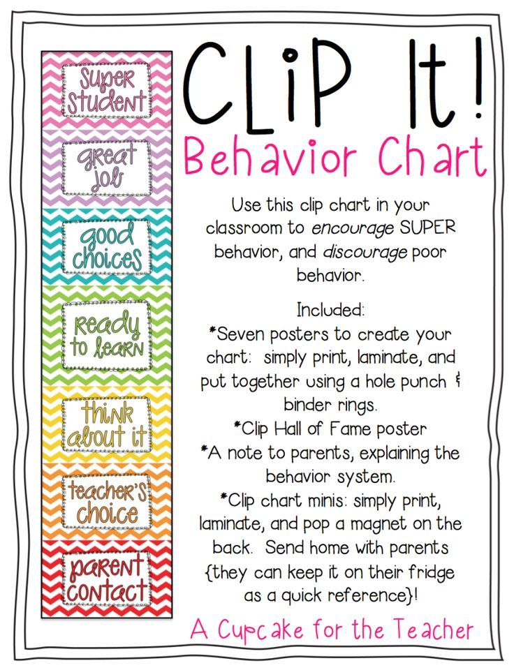 Classroom Design For Behavior Management ~ A cupcake for the teacher clip it behavior chart