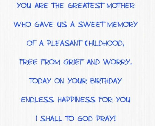 A Birthday Poem For Mom
