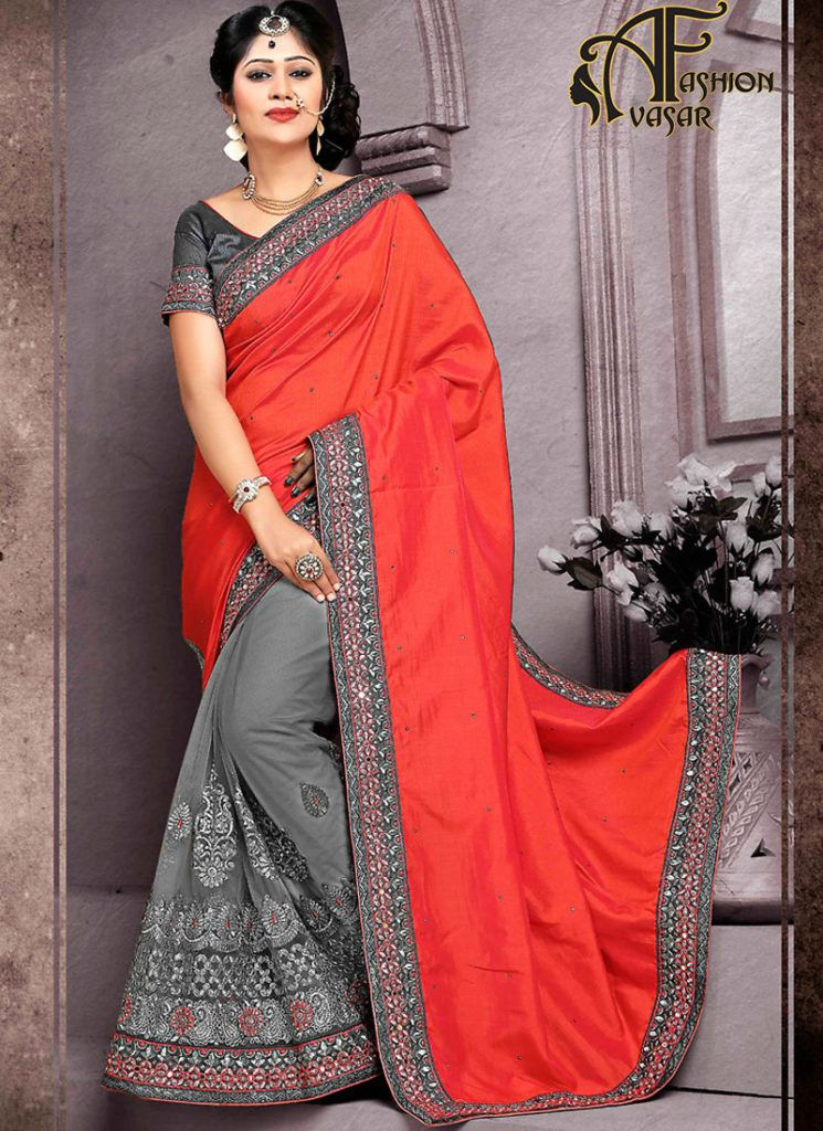 70af581308 Fancy Sarees Online Shopping | avasarfashion.com | Half saree, Saree ...