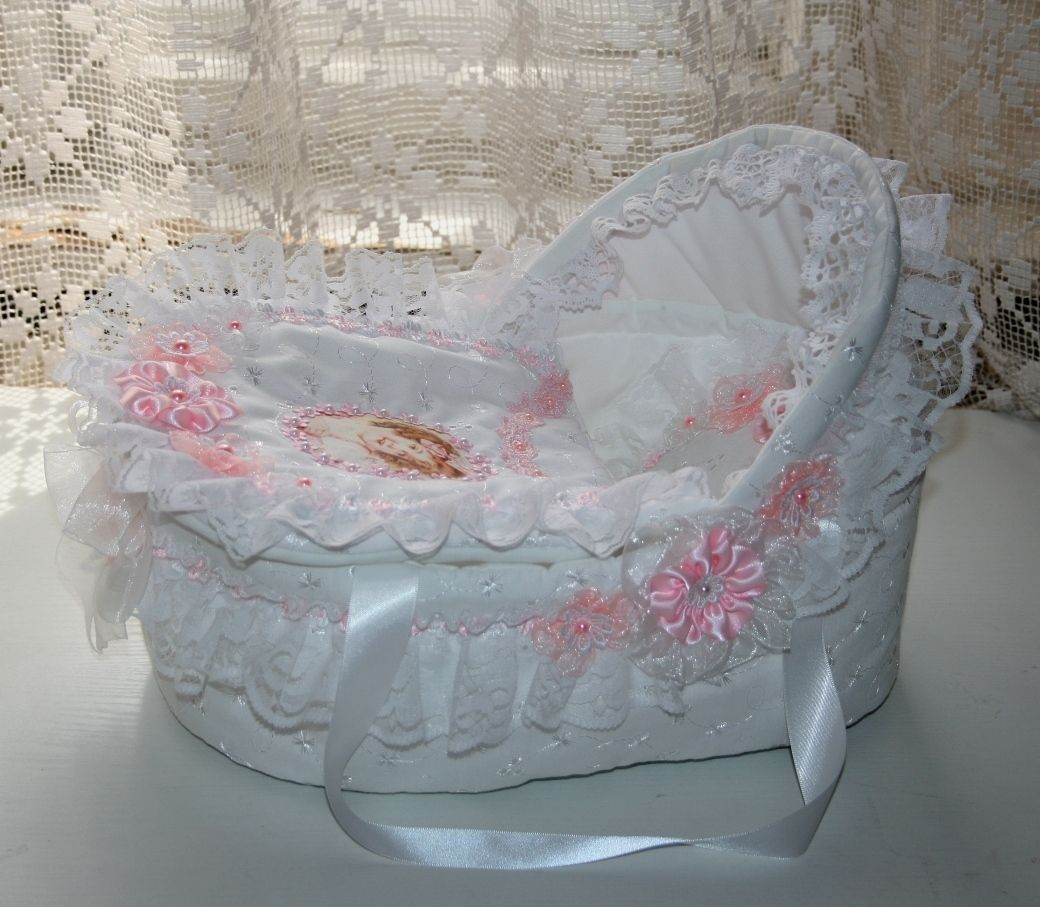 Crib Basket For Reborn Dolls Ebay Nursery Baby L Clay