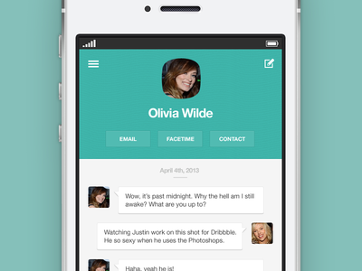Dribbble - ios7 Messages by Justin Nurse