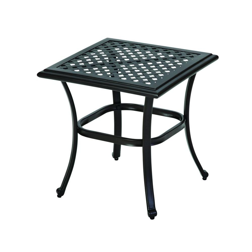 Hampton Bay Fall River Patio Side Table D11034 Ts The Home Depot