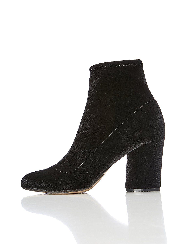b64446f43b6cd FIND Damen Stiefel mit Blockabsatz, Schwarz, 39 EU: Amazon.de: Schuhe