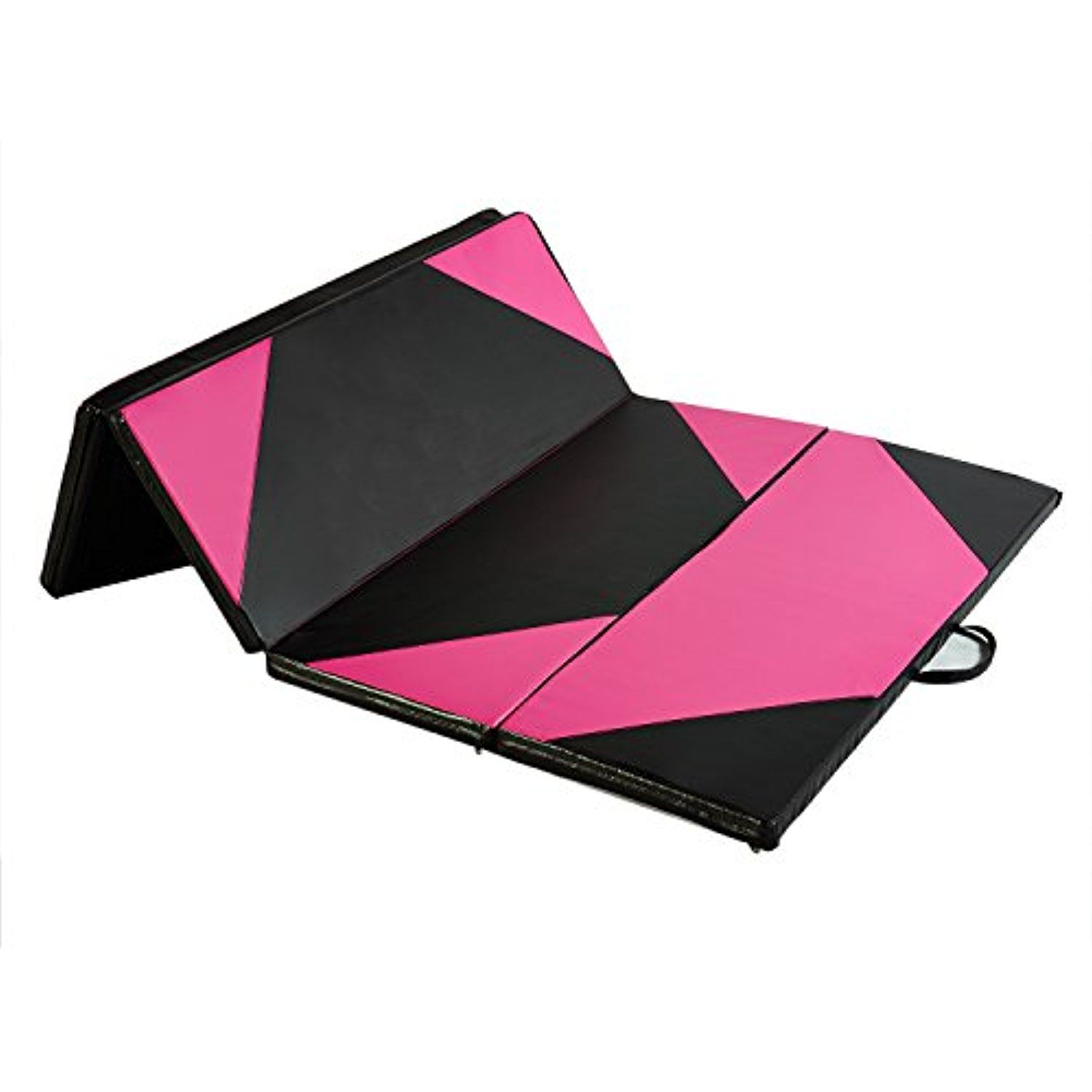 pink exercise pilates yoga floor leisure clearance gym cm black diy folding thick mats gymnastics fitness mat sports homcom foam