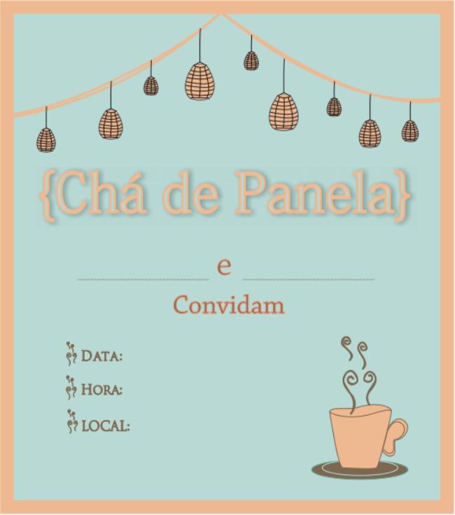Convite De Chá De Cozinha Modelos Para Baixar E Imprimir Em