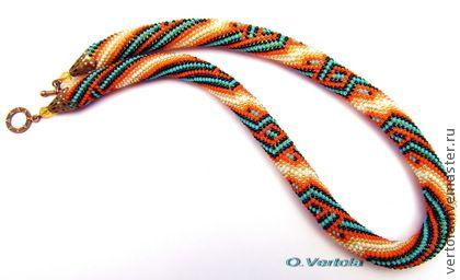 "Necklace beads handmade.  Fair Masters - handmade harness ""Inspired by the summer ..."".  Handmade."