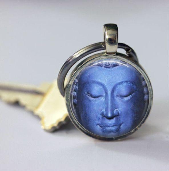 Schlüsselbänder - Schlüsselanhänger blauer buddha Accessoires - ein Designerstück von MadamebutterflyMeagan bei DaWanda