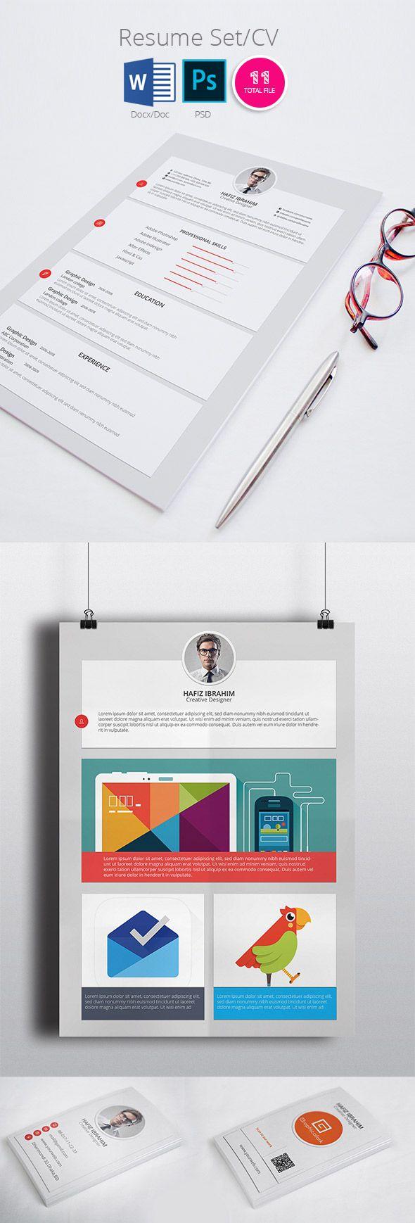 Modern ResumeCv Template Design  Layout  Editorial Design
