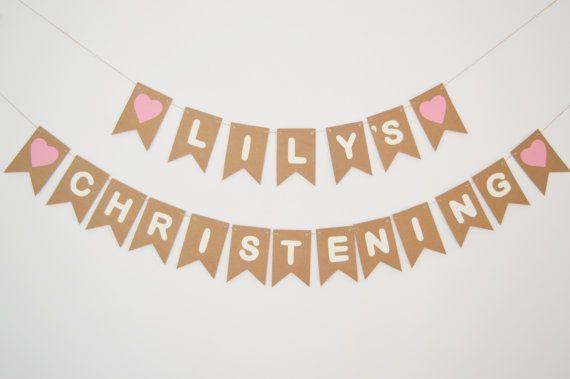 10 First Communion Banners Foiled Gold On Cream Card