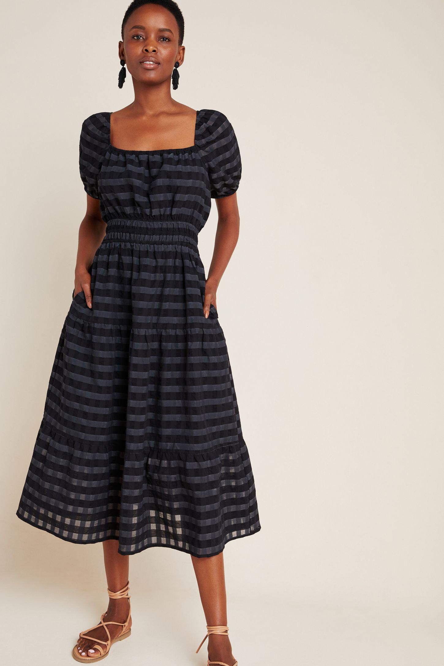 50+ Tiered midi dress info
