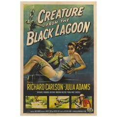 """""""The Creature from the Black Lagoon,"""" Film Poster"""