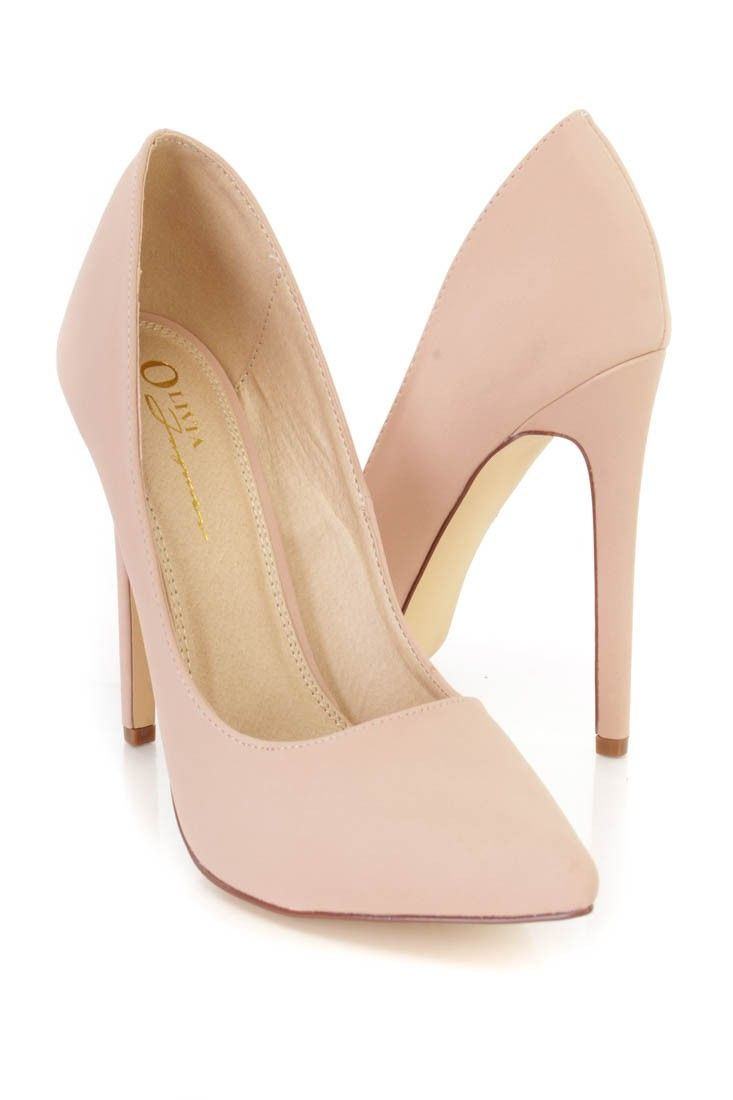 6dde52b643 These sexy and stylish single sole pump high heels are a must have this  season! The features include a nubuck faux leather upper with a pointed  closed toe, ...