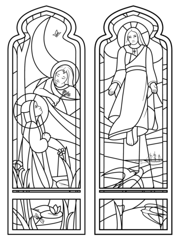 The Ascension Stained Glass Coloring page | coloring pages two ...